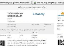 Cách in vé máy bay điện tử Vietnam Airlines